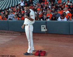 Commercial shoots at AT&T Park on Wednesday, February 6, 2013.