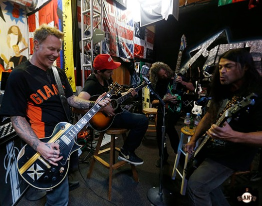 Barry Zito visits Metallica in the studio on Thursday, March 28, 2013.