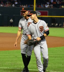 Posey and Pence Chase 9 1 2013